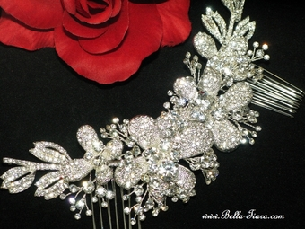 Donella - Royal Collection spectacular crystal comb headpiece - Special