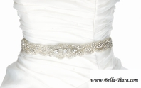Dora- Lovery and elgant beaded crystal wedding sash belt - SALE