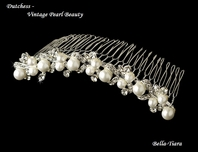 Dutchess -- Vintage off white pearl bridal hair comb - SPECIAL