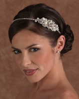 Edward Berger pearl and crystal headband - SALE