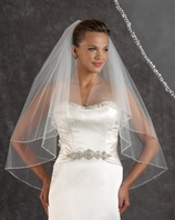 NEW!! Edward Berger couture stunning crystal edge  Wedding Veil - SALE
