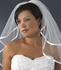 Elegant 2-tier ivory satin ribbon edge bridal veil - SPECIAL
