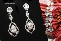 Elegant bold CZ bridal jewelry set - SALE