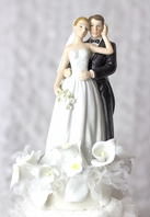 Elegant Calla lillies wedding bride groom cake topper - SALE