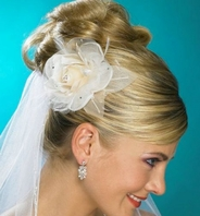 Elegant crystal accent Rose floral Hair comb