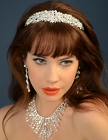 Elegant pearl crystal wedding headband - Ansonia bridal - SALE cebeb5809b9
