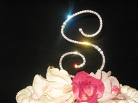 Elegant Full Crystal Cake Topper