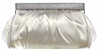 Elegant ivory rhinestone closure wedding purse - SALE