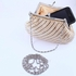 Elegant light ivory pearl wedding purse - CLEARANCE ONE LEFT