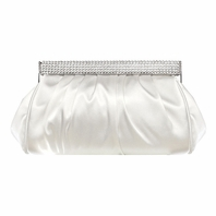 Elegant rhinestone closure white wedding clutch purse - SALE 3944ad704b8f0