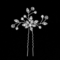 Elegant Swarovski Crystal Marquise Shaped Hair Pins - SPECIAL