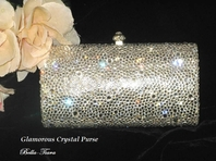 ELEGANT SWAROVSKI CRYSTAL PURSE BAG - SALE!!
