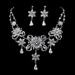 Elegant Vintage Crystal Collar Jewelry Set - Amazing Price