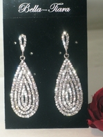 Eleganza - Swarovski crystal drop bridal evening earrings - SALE