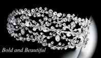 Elena Designs - Royal stunning bold Swarovski crystal headband - SALE