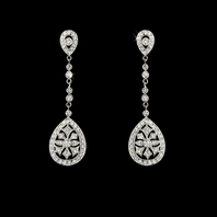 Eliana - Beautiful CZ vintage inspired earrings -SALE!!