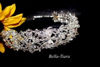 Elisa - NEW!! Royal Collection vintage Swarovski crystal side headband - SALE