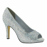 NEW Swarovski Crystal Evening Wedding Shoes   Eliza By Touch Ups