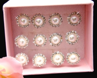 Emilia-Floral Pearl Bridal Hair Pins (set of 12)