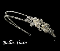 Enchanting Freshwater pearl crystal wedding headband