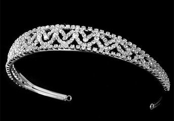ENCHANTING Vintage swirl rhinestone bridal headband - SALE!!