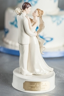 Engraveable Porcelain Bride and Groom Wedding Cake Topper