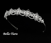 Ethel - Victorian beauty w/ Crystal Wedding Headband