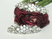 Eudora - Beautiful set of 2 swarovski hair barrette - SPECIAL