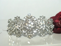 Fatima - Stunning royal swarovski crystal wedding hair barrette - SPECIAL two left