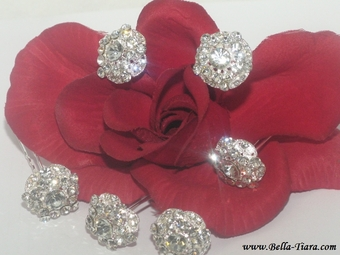 Fior Bello - Vintage Crystal Bridal Hair Pins  (set of 6) - SALE! back in stock!