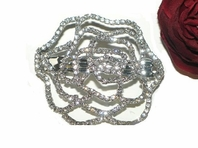 Fiorbello - Beautiful rose flower swarovski crystal hair barrette - sale