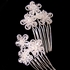Fiore-Crystal Flower Bridal Hair Pins (set of 2)