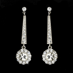 Fiorino - Romantic vintage drop crystal earrings - SALE