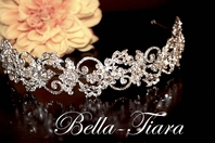 Zhanay - Floral crystal wedding headband -15% off use code  (tiara15)