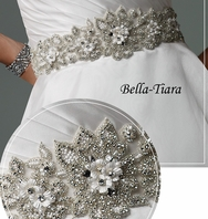 Mon Cheri designer all around beaded wedding sash J11234 - SALE!!