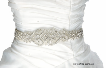 Genna - GORGEOUS vintage all around beaded wedding sash - SPECIAL