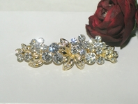 Gia - Gorgeous gold swarovski crystal hair barrette - SALE