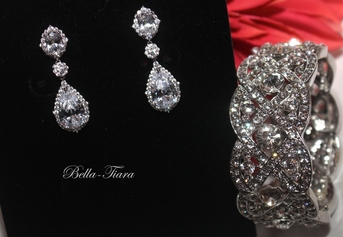 Gina -Elegant high end earrings and bracelet - SPECIAL PRICE
