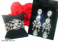 Gina - Vintage swirl high end bracelet and earring set - sold out