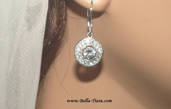 Giovanna - Beautiful vintage drop cz bridesmaids or bridal earrings - SPECIAL