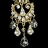 Glamorous gold crystal chandelier wedding earrings
