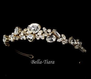 GLAMOROUS gold wedding headpiece - SALE