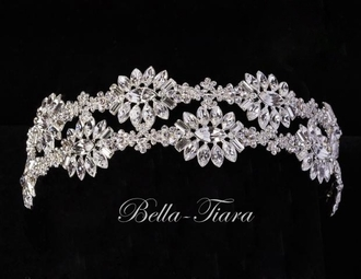 GLAMOROUS swarovki crystal wedding headband - special