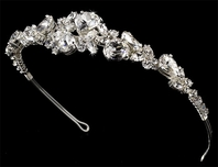 Glamour - SPARKLING BOLD couture bridal headpiece