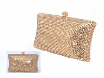 Gold or Silver Beauty Swarovski crystal purse - SALE!!