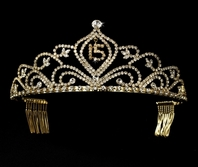 Gold sweet 15 Quincea�era Tiara- SALE