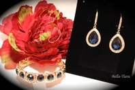 Gorgeous blue bridesmaids jewelry set -sold