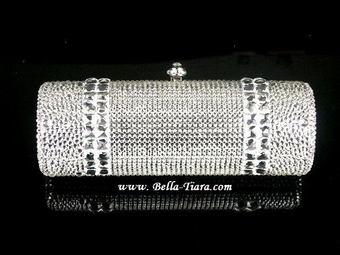 GORGEOUS couture Swarovski crystal evening purse - SALE