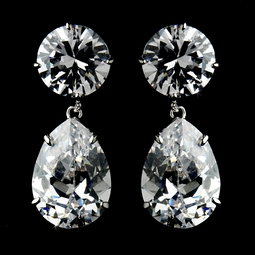 Gorgeous Cubic Zirconium Teardrop Earrings - SALE