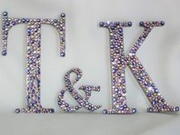 GORGEOUS Swarovski crystal custom monogram cake topper - SALE